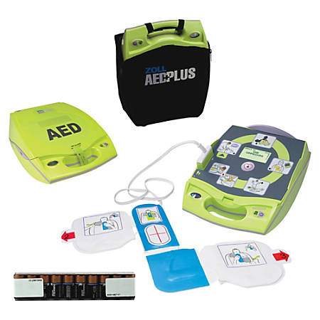 ZOLL® AED Plus® Defibrillator, Lime Green