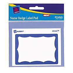 Avery Name Badge Label Pad 3