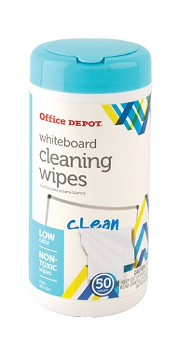 Office Depot Brand Dry Erase Board Cleaning Wipes 6 X 9 Pack Of 50 By Officemax