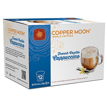 Copper Moon® Cappuccino Insta-Cups, French Vanilla, Box Of 12