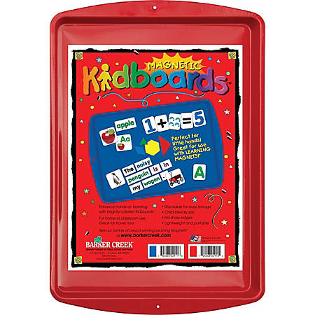 "Barker Creek® Magnets, Learning Magnets®, Kidboard™, 9""H x 13""W, Grades Pre-K–6, Red"