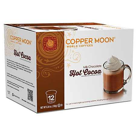 Copper Moon® Hot Cocoa Insta-Cups, 6.35 Oz, Pack Of 12