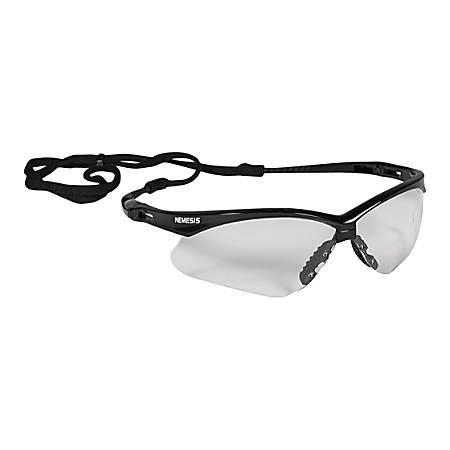 Jackson Safety V30 Nemesis Safety Eyewear - Flexible, Lightweight, Comfortable, Scratch Resistant - Ultraviolet Protection - Polycarbonate Lens - Clear, Black - 12 / Carton