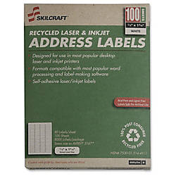White Laser Address Labels NSN5144911 12