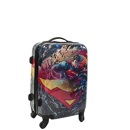 "ful DC Comics Upright Rolling Suitcase, Superman, 20""H x 14 3/8""W x 9 3/4""D, Multicolor"