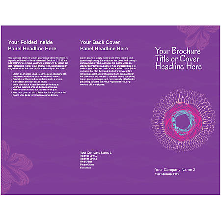 Customizable Trifold Brochure, Pink Nest Pattern
