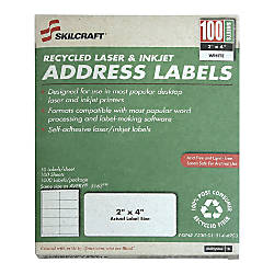White Laser Address Labels NSN5144903 2