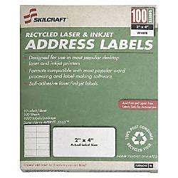 White Laser Address Labels NSN5144904 1
