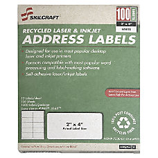 White Laser Address Labels NSN5144904 1
