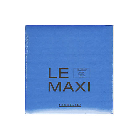"Sennelier Le Maxi Block Drawing Pad, 10"" x 10"", 250 Pages"