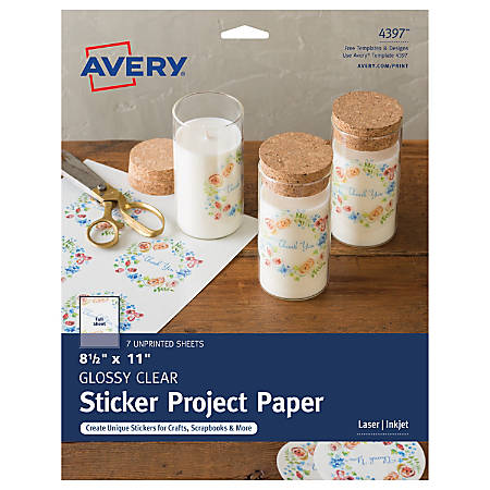 Avery® Full-Sticker Project Paper, 4397, 8 1/2