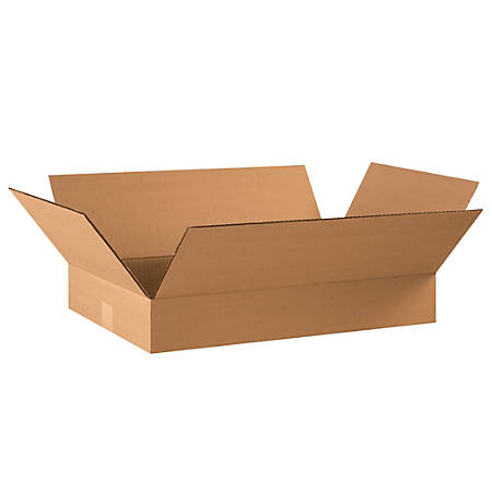 """Office Depot® Brand Corrugated Boxes, 4""""H x 14""""W x 22""""D, Kraft, Pack Of 25"""