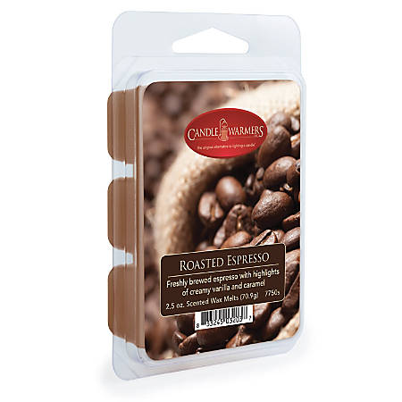 Candle Warmers Etc Wax Melts, Roasted Espresso, 2.5 Oz, Case Of 4 Packs