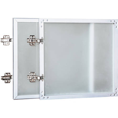 """Lorell® Essentials Series Doors for Wall Mount Open Hutch, 36""""W, Frosted Glass"""