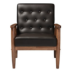 Baxton Studio Noel Faux Leather Lounge