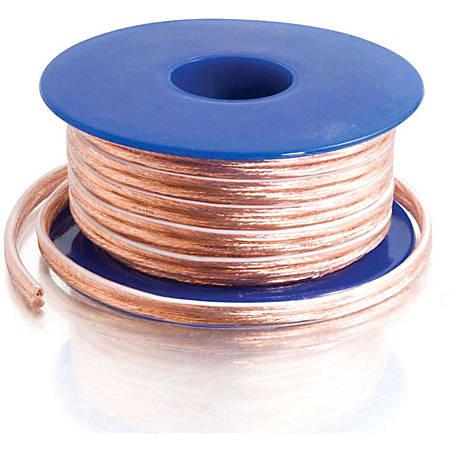 C2G 50ft 18 AWG Bulk Speaker Wire - Pin Connector Male Audio - Pin Connector Male Audio - 50ft - Clear