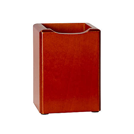 Rolodex® Wood Tones™ Pencil Holder, Mahogany
