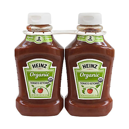 Heinz Organic Tomato Ketchup, 44 Oz, Pack Of 2 Bottles