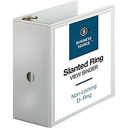 Business Source Basic D Ring White