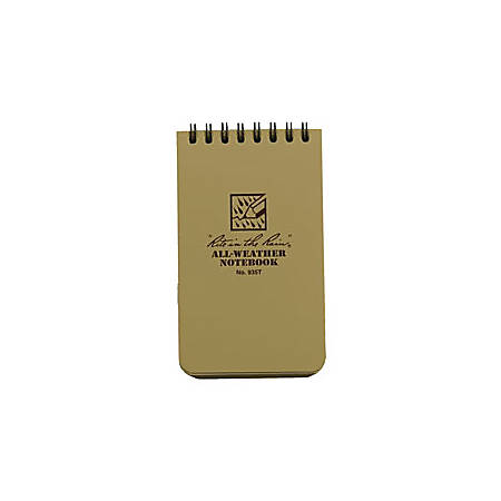 "Rite in the Rain® Tactical Pocket Notebook, 3"" x 5"", Tan"