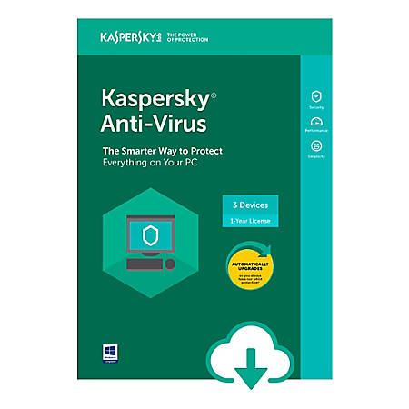 Kaspersky Anti-Virus 3 user 1 year