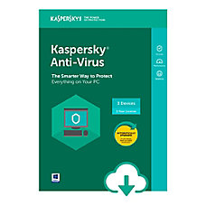 Kaspersky Anti Virus 3 Users 1