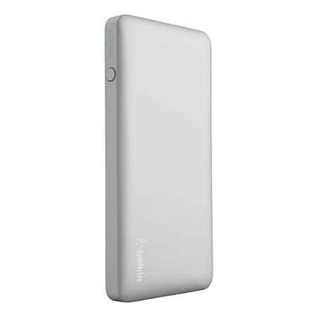 Belkin® Pocket Power Portable Charger, 5,000 mAh, Silver, F7U019BTSLV