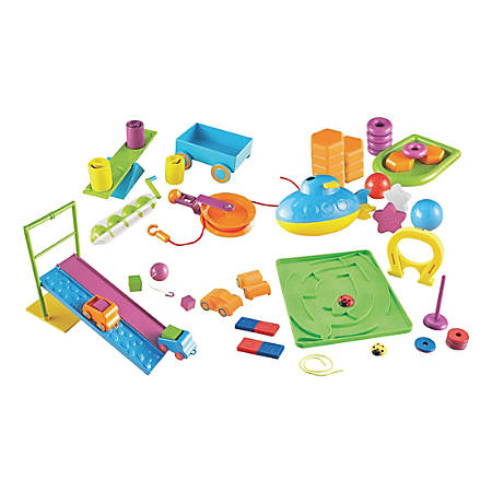 Learning Resources STEM Classroom Bundle - Theme/Subject: Fun - Skill Learning: Force, Motion, Machines, Magnetism, Engineering & Construction, Science, Science Experiment, Mathematics, Building, Mechanics, Physics