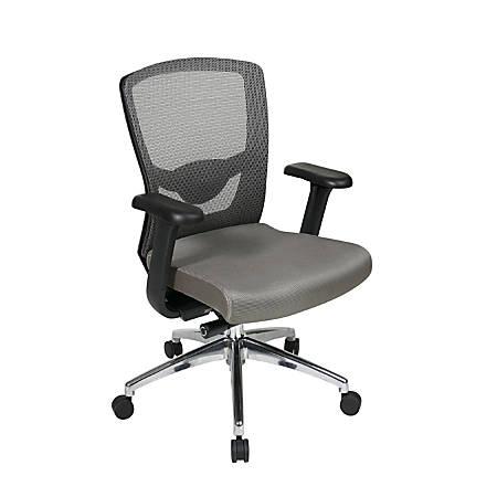 Office Star™ Pro-Line II Ergonomic ProGrid Mesh-Back Chair, Gray