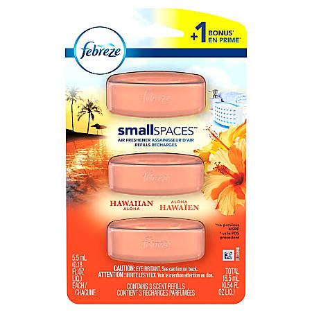 Febreze® SmallSpaces Air Freshener Refills, Hawaiian Aloha, 5.05 Oz, Pack Of 3