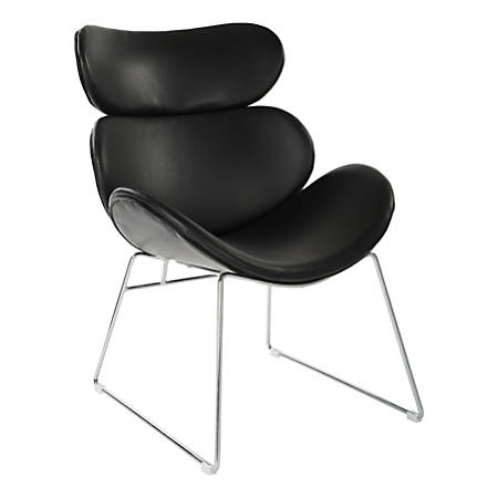 Office Star™ Avenue Six Jupiter Chair, Black/Chrome