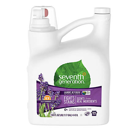 Seventh Generation™ Natural Liquid Laundry Detergent, Blue Eucalyptus And Lavender, 1.2 Gallons