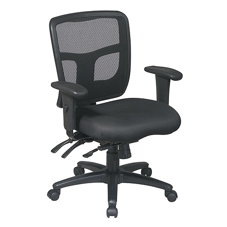 Office Star Progrid Mid Back Mesh Adjule Chair 39 H X 26 12 W 25 14 D Black By Depot Officemax