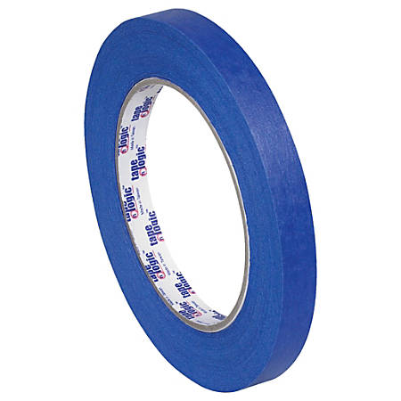 "Tape Logic® 3000 Painter's Tape, 3"" Core, 0.5"" x 180', Blue, Case Of 72"