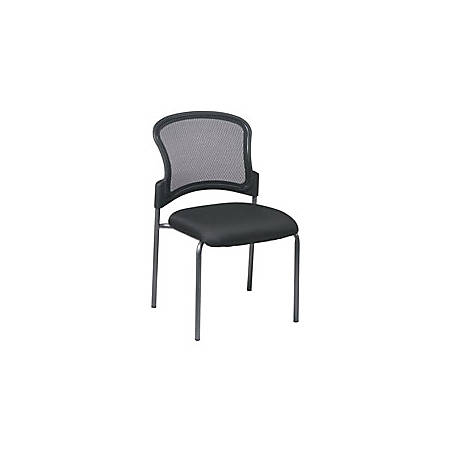 Office Star™ Pro-Line™ II Stackable Chair, Straight Legs, Black