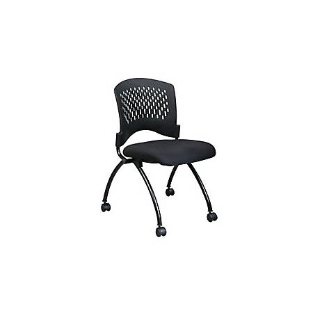 Terrific Office Star Folding Chair With Casters 34H X 24 1 2W X 22D Black Item 395187 Squirreltailoven Fun Painted Chair Ideas Images Squirreltailovenorg