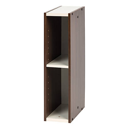 "IRIS Sema 23""H Slim Space-Saving Shelf, Walnut Brown"