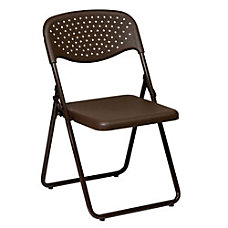 Office Star Stackable Folding Chairs Mocha