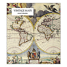 Retrospect Vintage Maps Monthly Desk Calendar