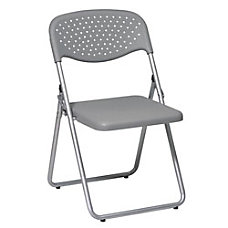 Office Star Stackable Folding Chairs SilverGray