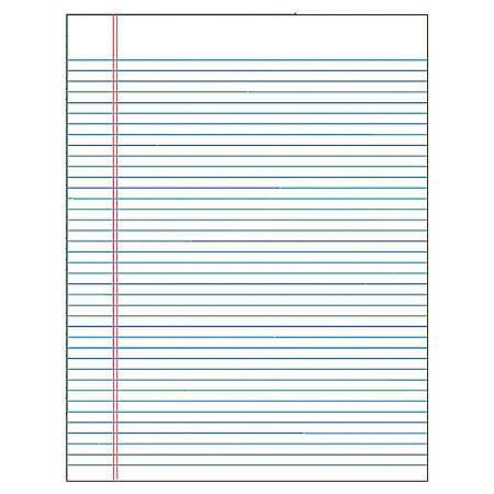 "TOPS™ The Legal Pad™ Glue-Top Writing Pads, 8 1/2"" x 11"", Wide Ruled, 50 Sheets, White, Pack Of 12 Pads"
