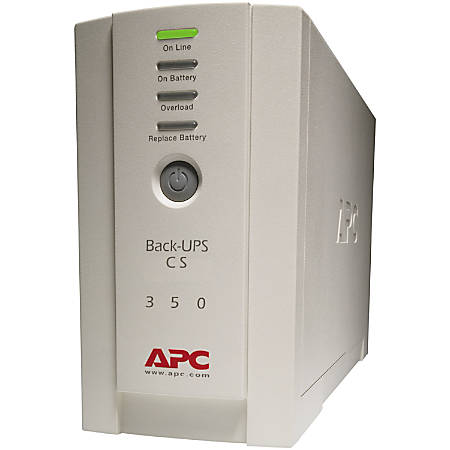 APC BACK-UPS CS 350VA - 350VA/210W - 4.7 Minute Full Load - 3 x IEC 320-C13, 1 x IEC 320-C13 - Battery/Surge-protected, 2
