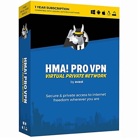Avast HMA! Pro VPN, 1-Year Subscription, For 5 Devices, Download Version