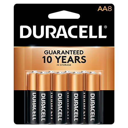 Duracell® Coppertop AA Alkaline Batteries, Pack Of 8 Batteries