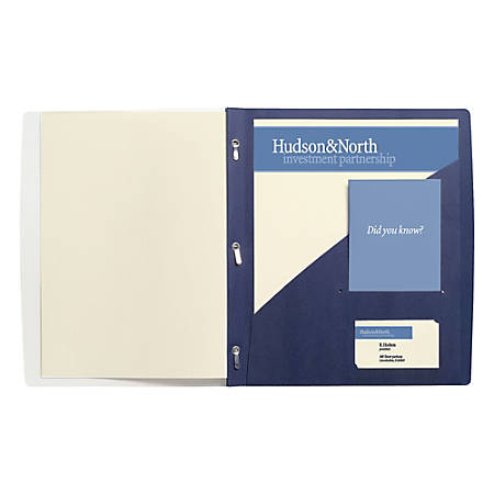 "GBC® Frosted Front Report Cover, 11 1/2"" x 9 1/2"", Dark Blue, Pack Of 5"