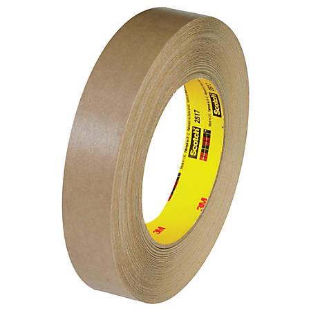"3M™ 2517 Flatback Tape, 3"" Core, 1"" x 60 Yd., Kraft, Case Of 12"