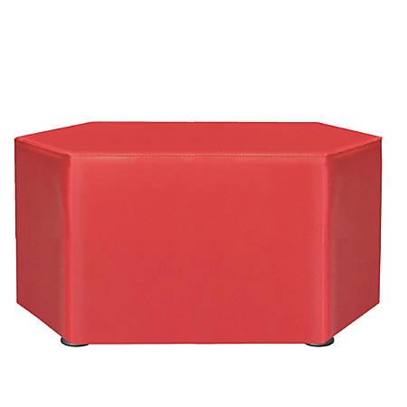 """Marco Hexagon Seating Ottoman, 18""""H, Tomato"""