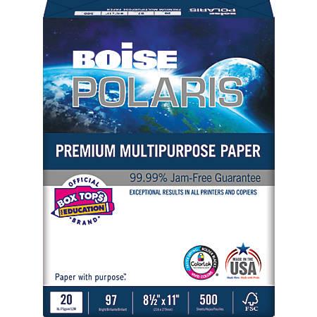 Boise POLARIS® Premium Multipurpose Paper, Letter Paper Size, 97 Brightness, 20 Lb, FSC® Certified, Ream Of 500 Sheets