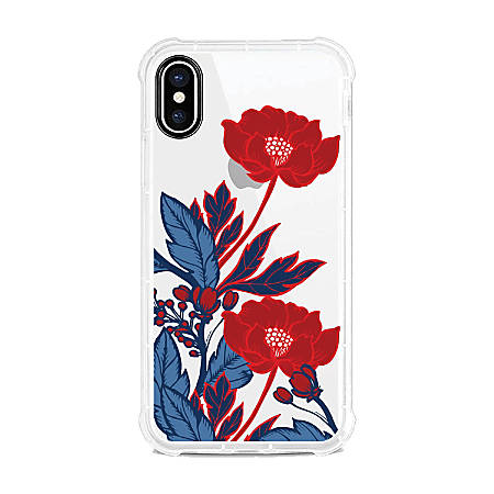 OTM Essentials Tough Edge Case For iPhone® X/Xs, Red Poppies, OP-SP-Z124A