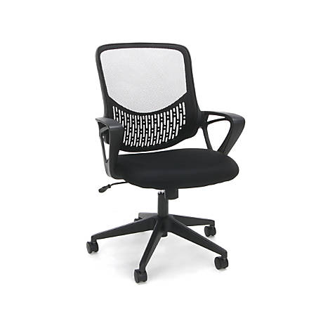 OFM Essentials Mesh High-Back Chair, Black/Silver